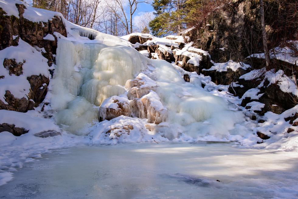 Frozen Waterfall on the Split Rock River