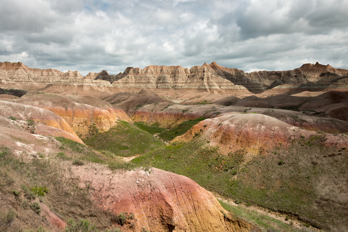 Cloudy Skies over the Badlands