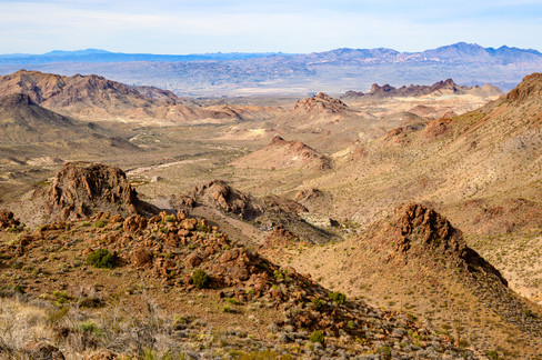 View from top of Black Mountain pass on Route 66