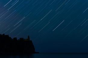 Star Trails at Split Rock Lighthouse