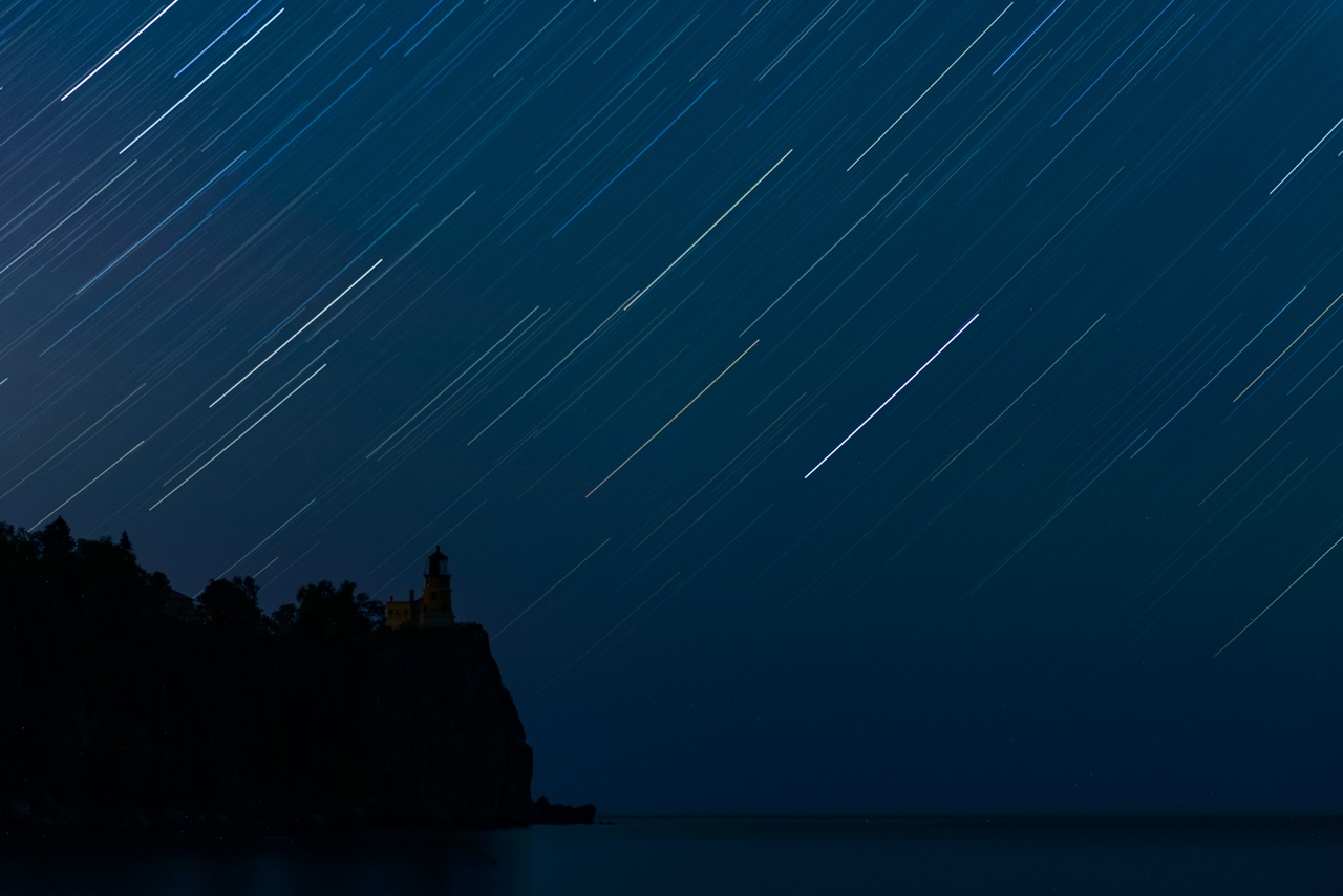 Split Rock Star Trails