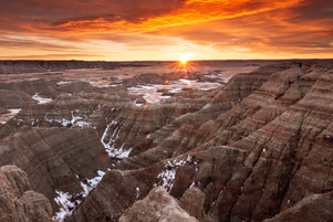 Sunrise at Big Badlands Overlook