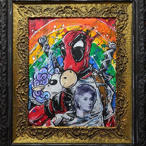 Deadpool <3 Bea Arthur Original Painting