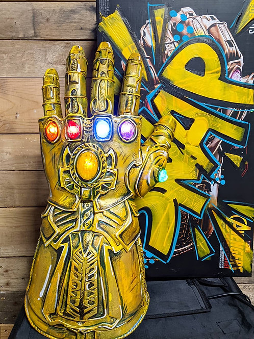 Thanos Infinity Gauntlet - Custom Painted and Fully Wearable w/ light up stones
