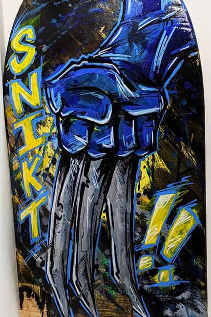 Broken Skateboard Art
