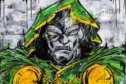 "Doctor Doom - 36"" x 24"" original painting"