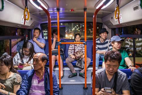 Late Night Bus Apathy