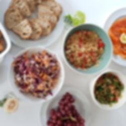 photo of plates of various healthy looking foods