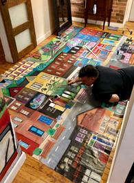 Cabbagetown Mural 9ft x 13ft