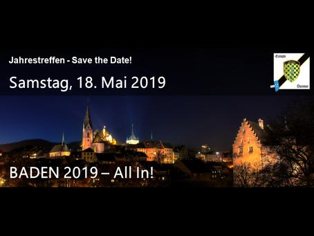 Save the Date - Jahrestreffen 2019 / réunion annuelle 2019
