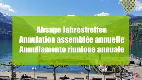 Annulation assemblée annuelle 2021