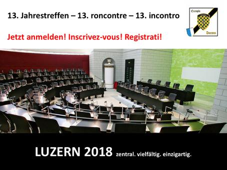 Anmeldung Jahrestreffen 2018 / Inscription réunion annuelle 2018