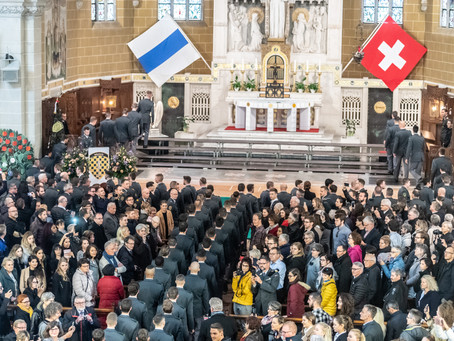 Bericht Besuch Beförderungsfeier Infanterie Offiziersschule 10-2/18 in Zug