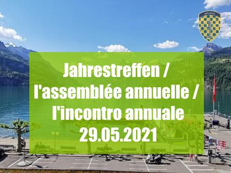 Anmeldung Jahrestreffen 2021 online / Inscription assemblée annuelle 2021 en ligne