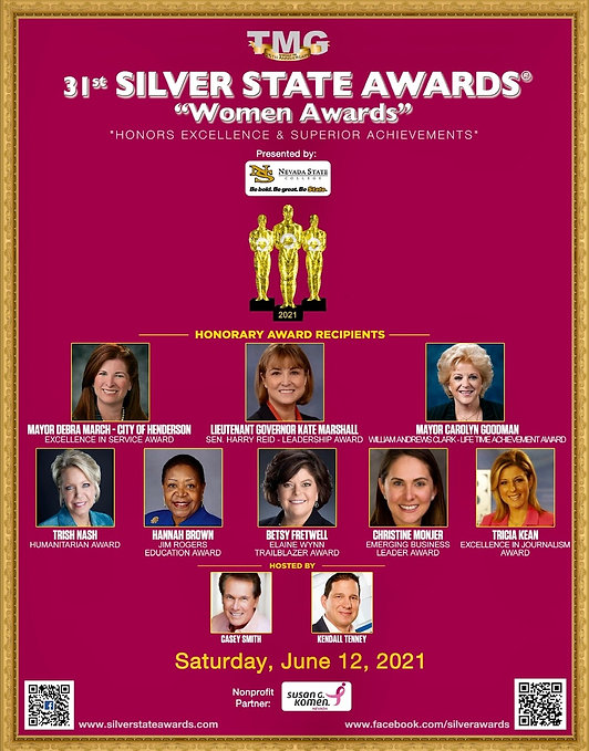 31st Silver State Awards - Women Awards.