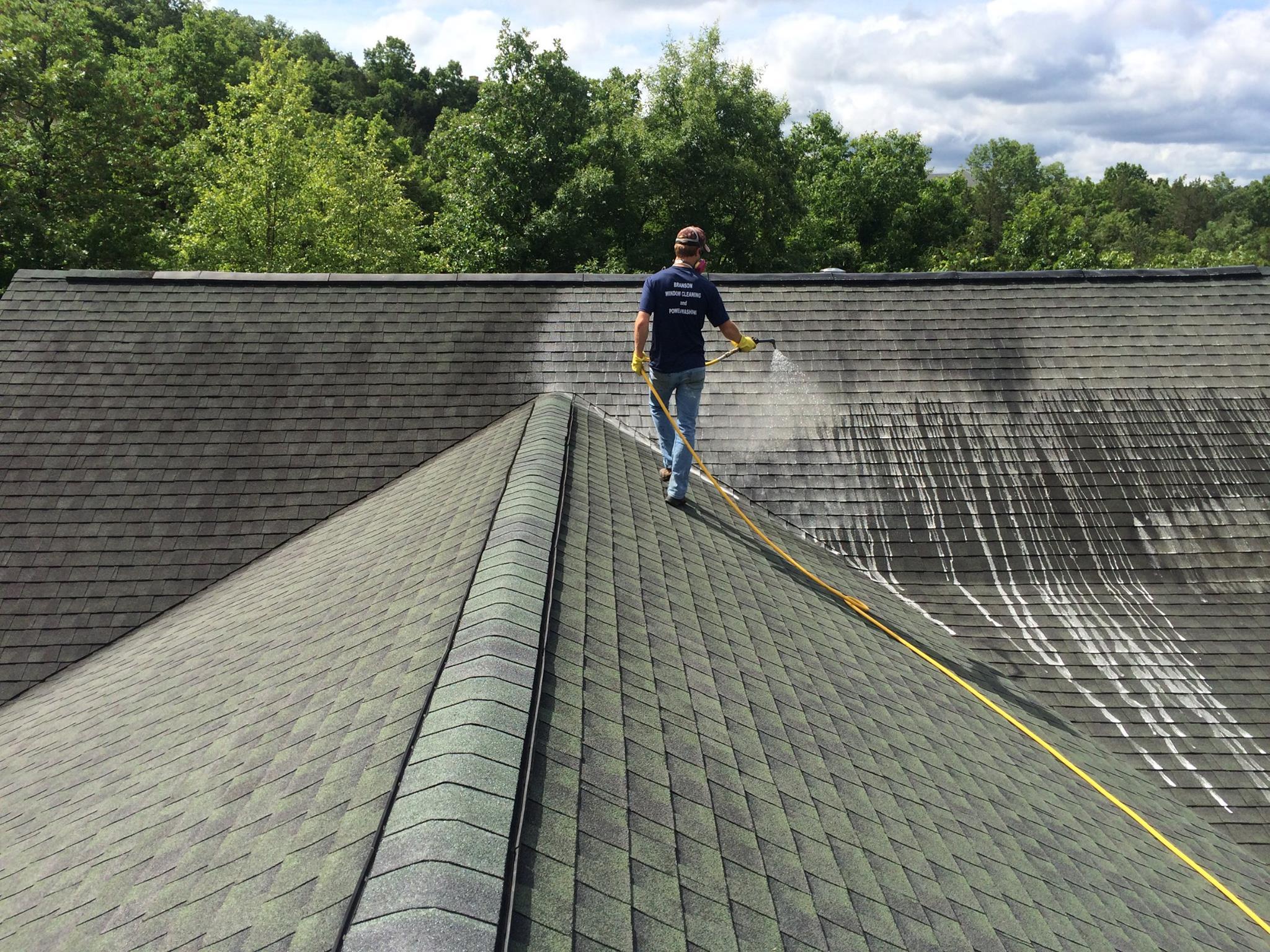 roof washing service branson