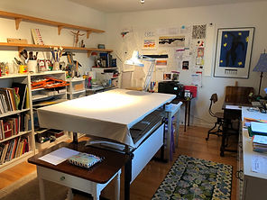 Drafting table and desk with Matisse