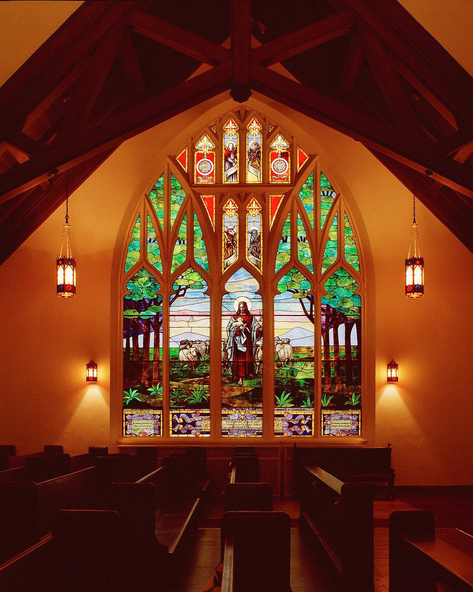 Good Shepherd Window at Iroquois Ave. Ch