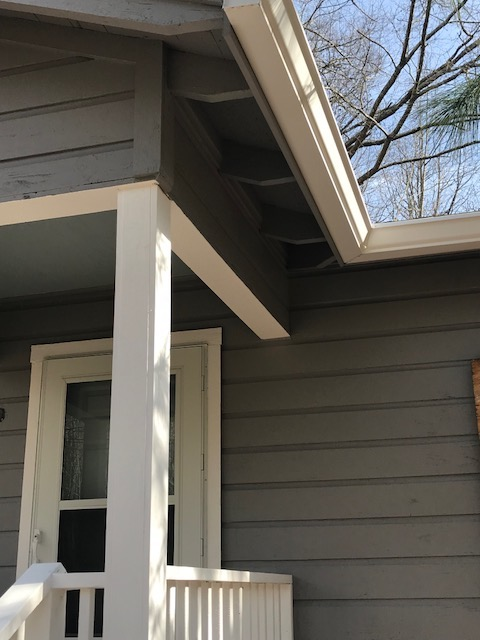 front corner and gutters 2-6-18
