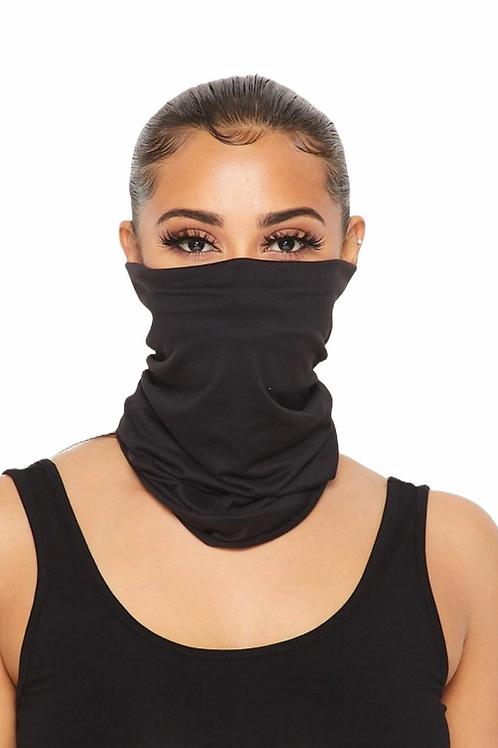 Double Layered Cloth TubularFace Cover - Black
