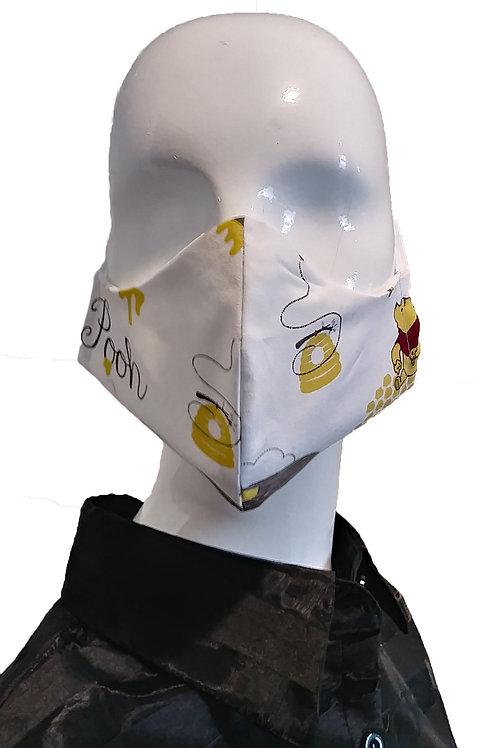Cotton Fashion Mask - Yellow and White