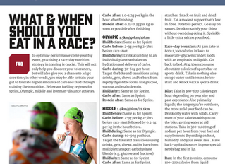 What & When Should you Eat in a Race