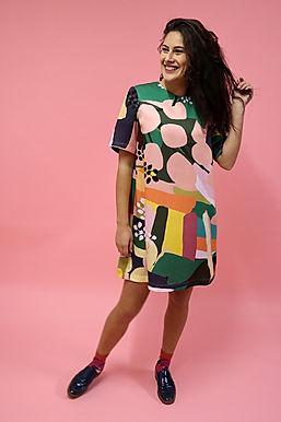 Olive Shift Dress (Tencel)