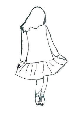 Custom Made Ruffle Dress