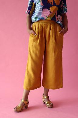 Mustard Linen Pants