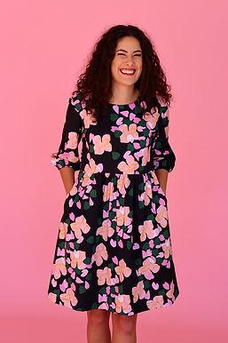 Botanical Puff Sleeve Dress
