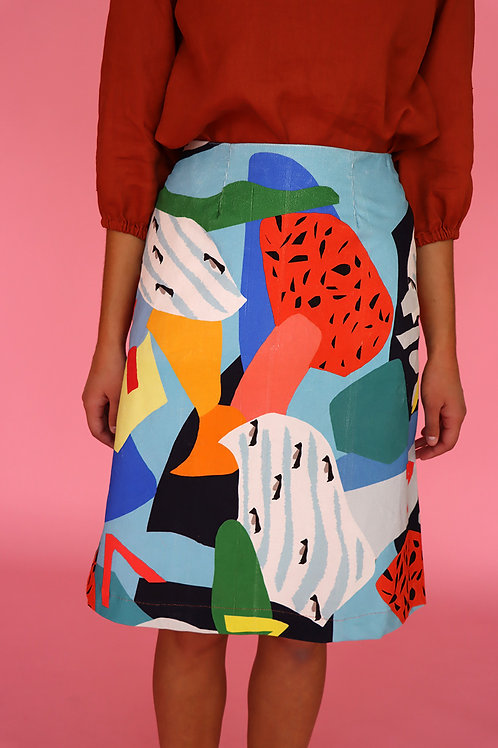 Camp Cord A-line Skirt