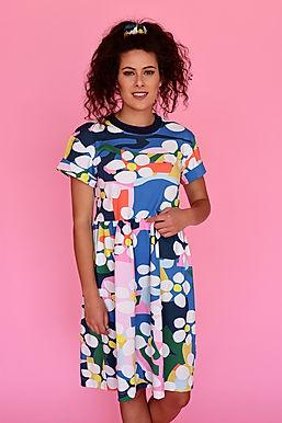 Bloom Jersey Smock Dress (Cap Sleeve)