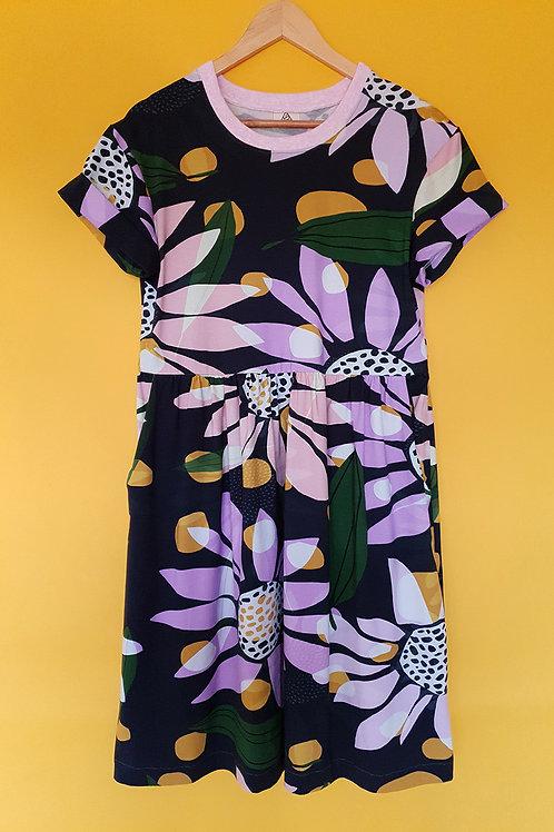 Daisy Jersey Smock Dress (Cap Sleeve)