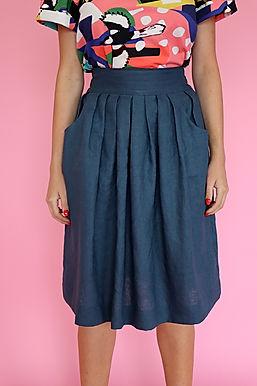 Teal Waisted Skirt