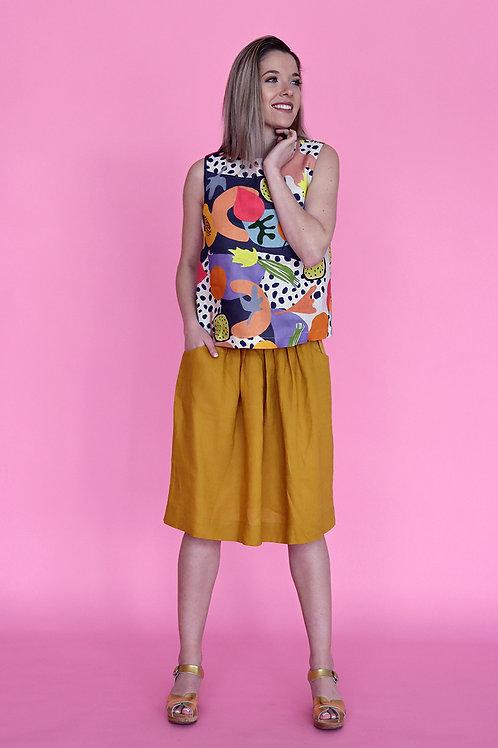 Mustard Waisted Skirt