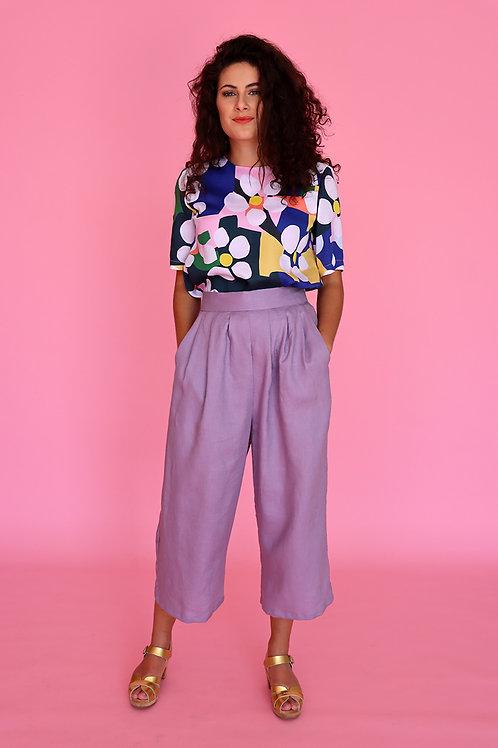 Lilac Linen Pants