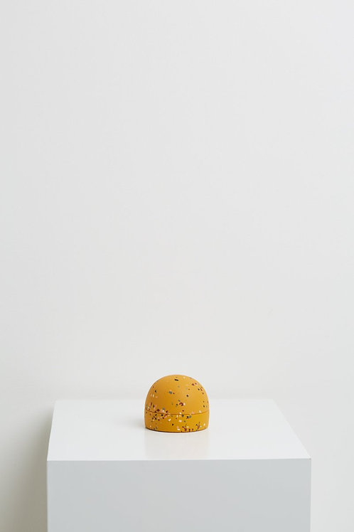 Dome Keepsake Box Golden Terrazzo