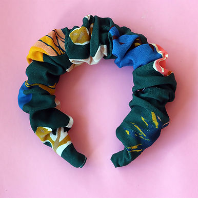 Poppy Scrunchie Headband