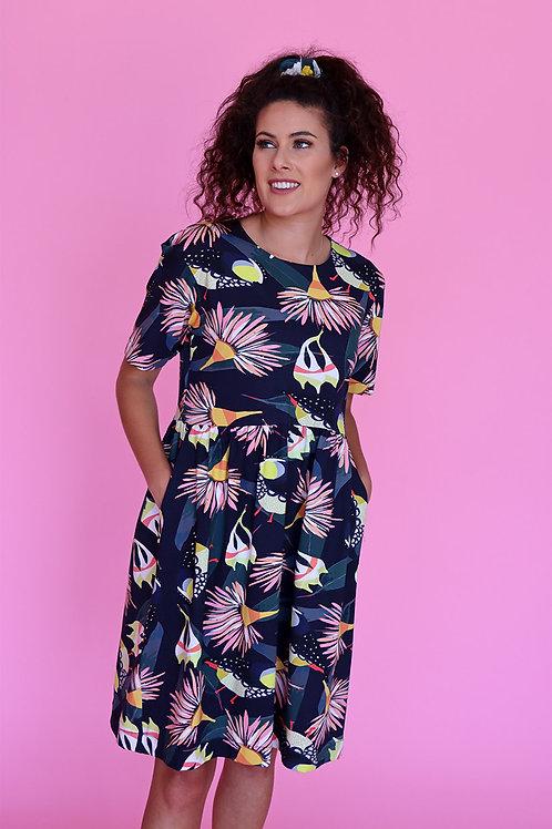 Forty Spots Smock Dress (Mid Sleeve)