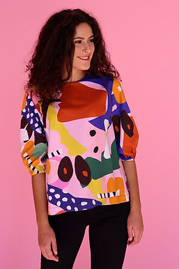 Body Move It Puff Sleeve Top