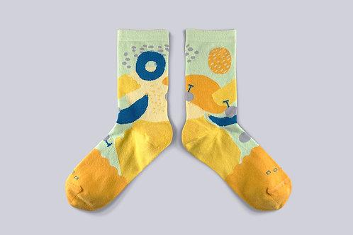Fruit Festival Sock - Reebok Gold