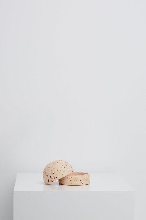 Dome Keepsake Box Pink Terrazzo