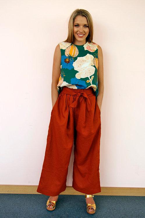 Paprika Linen Pants