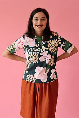 Posy Mid Sleeve Top