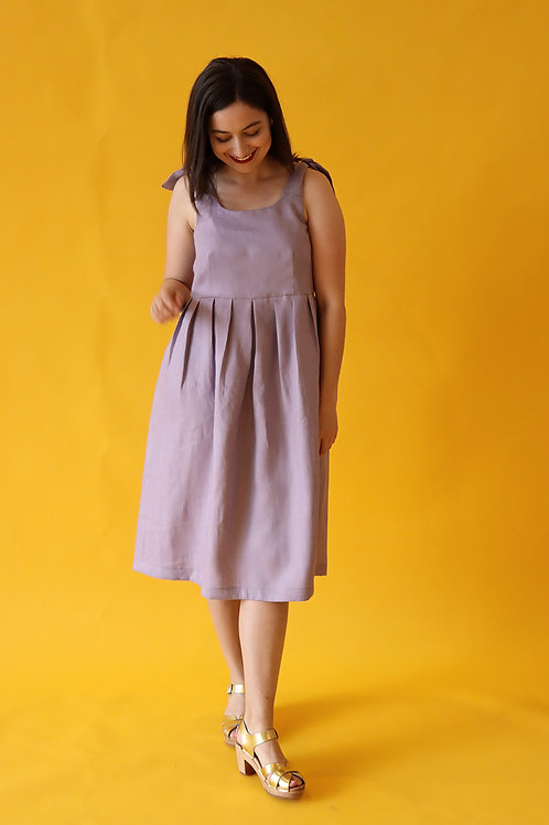 Lilac Linen Sundress