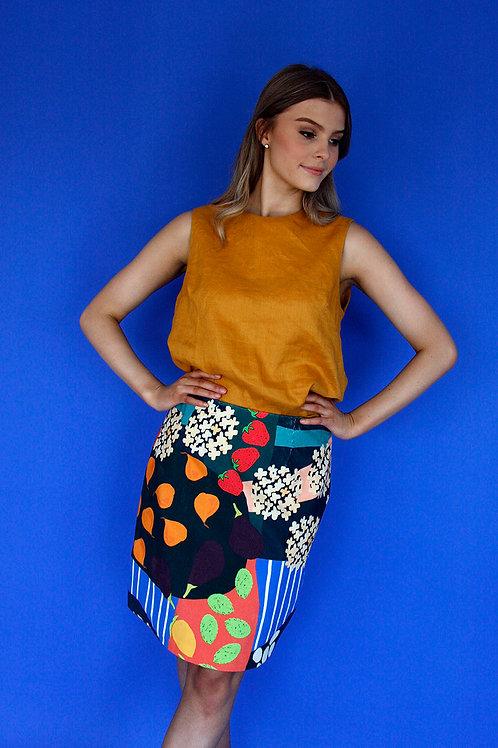 Garden Path Cord A-line Skirt