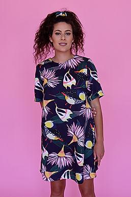 Forty Spots Shift Dress (Tencel)