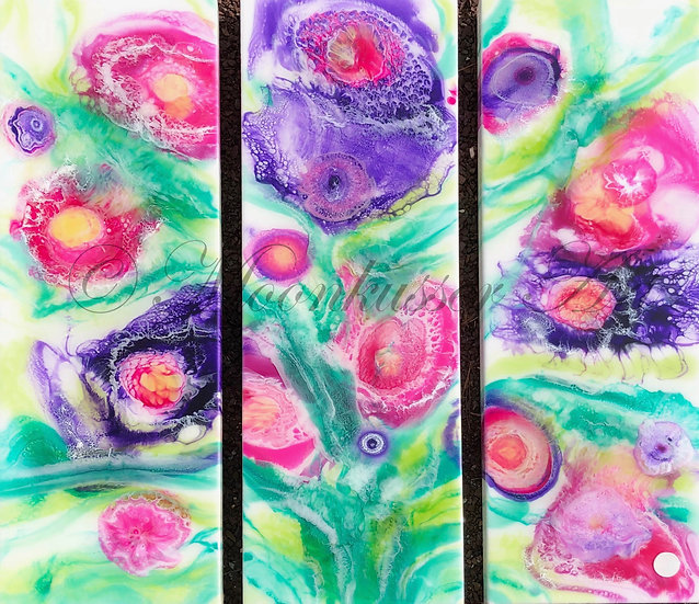 Midsummers Dream Original Contemporary Abstract Resin Art Painting floral