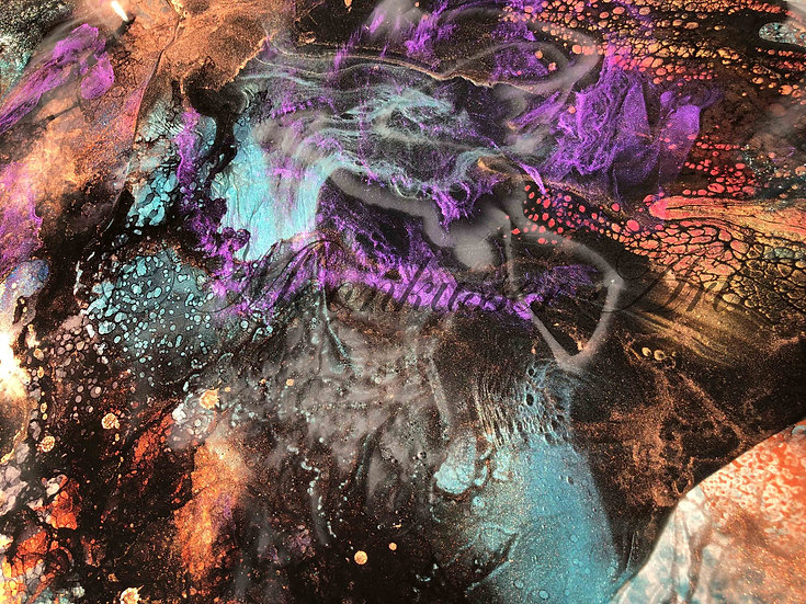 Resin Art: Spellbound - by Moonkusser Art - multiple layers of epoxy resin create true depth and visual effects