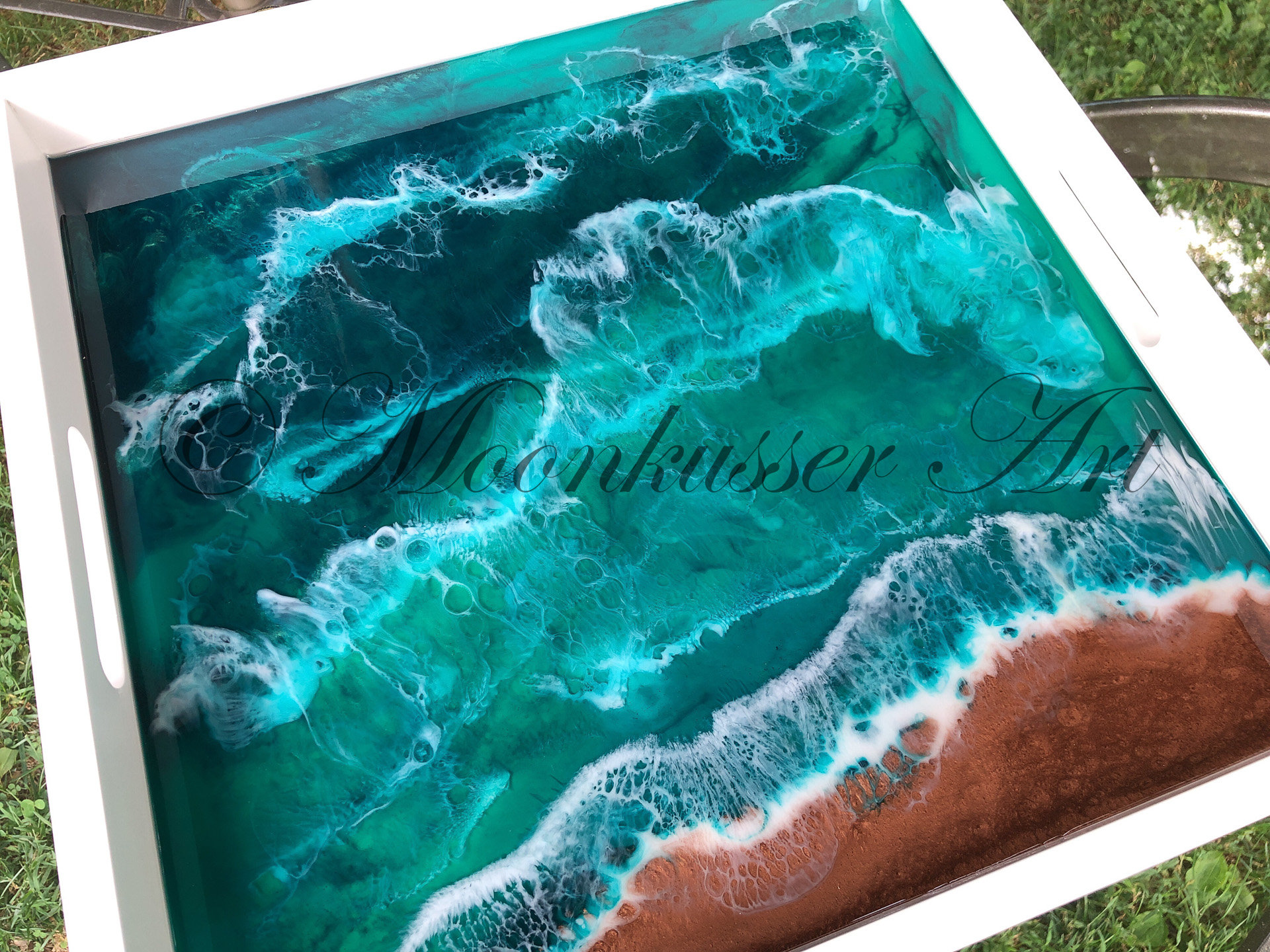 Beach Resin Art Tray North Sea Website
